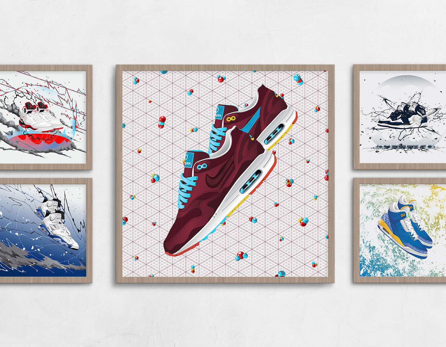 Framed Nike Air Max 1 Patta x Parra Contemporary Art