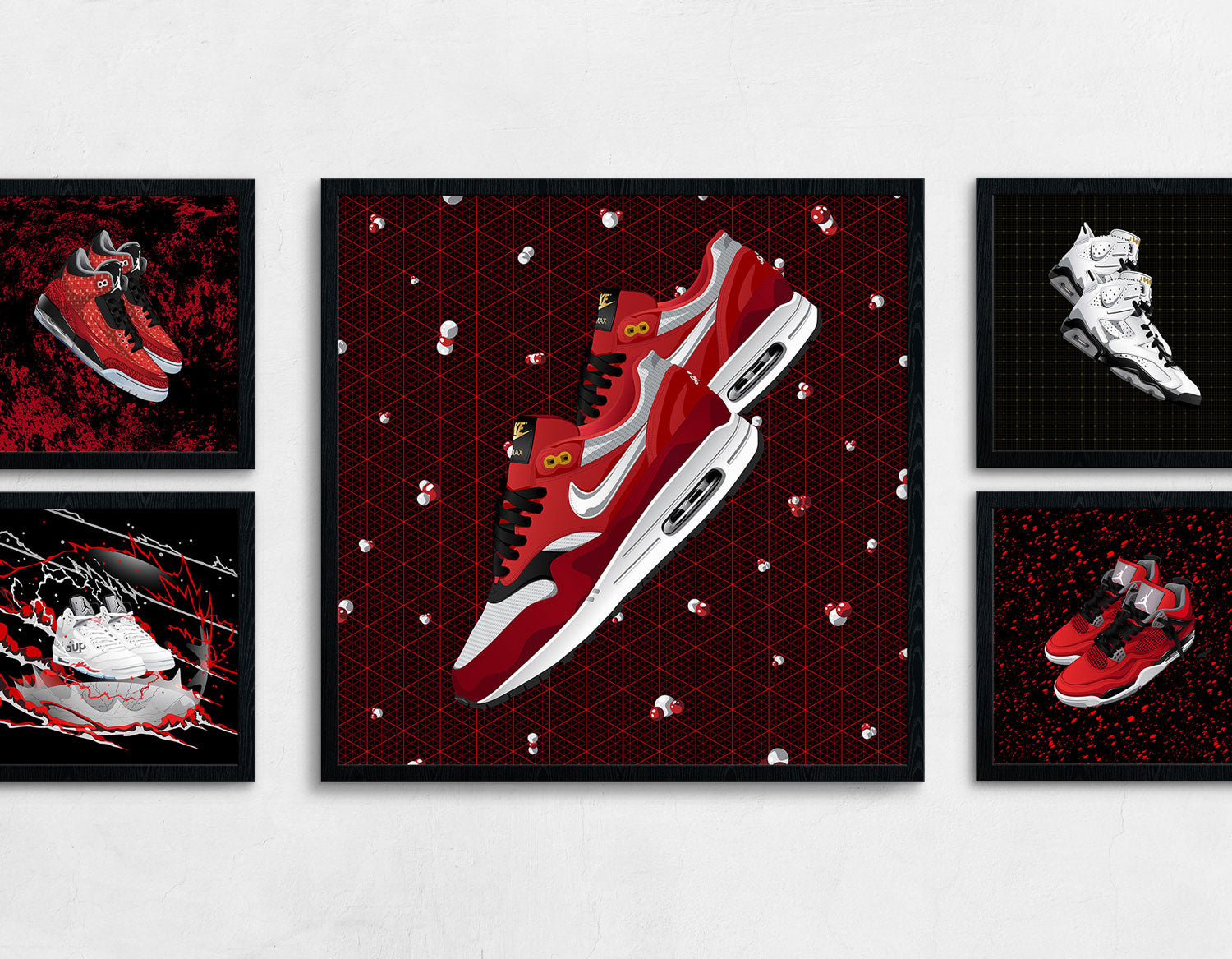 Framed Nike Air Max 1 Urawa Contemporary Art