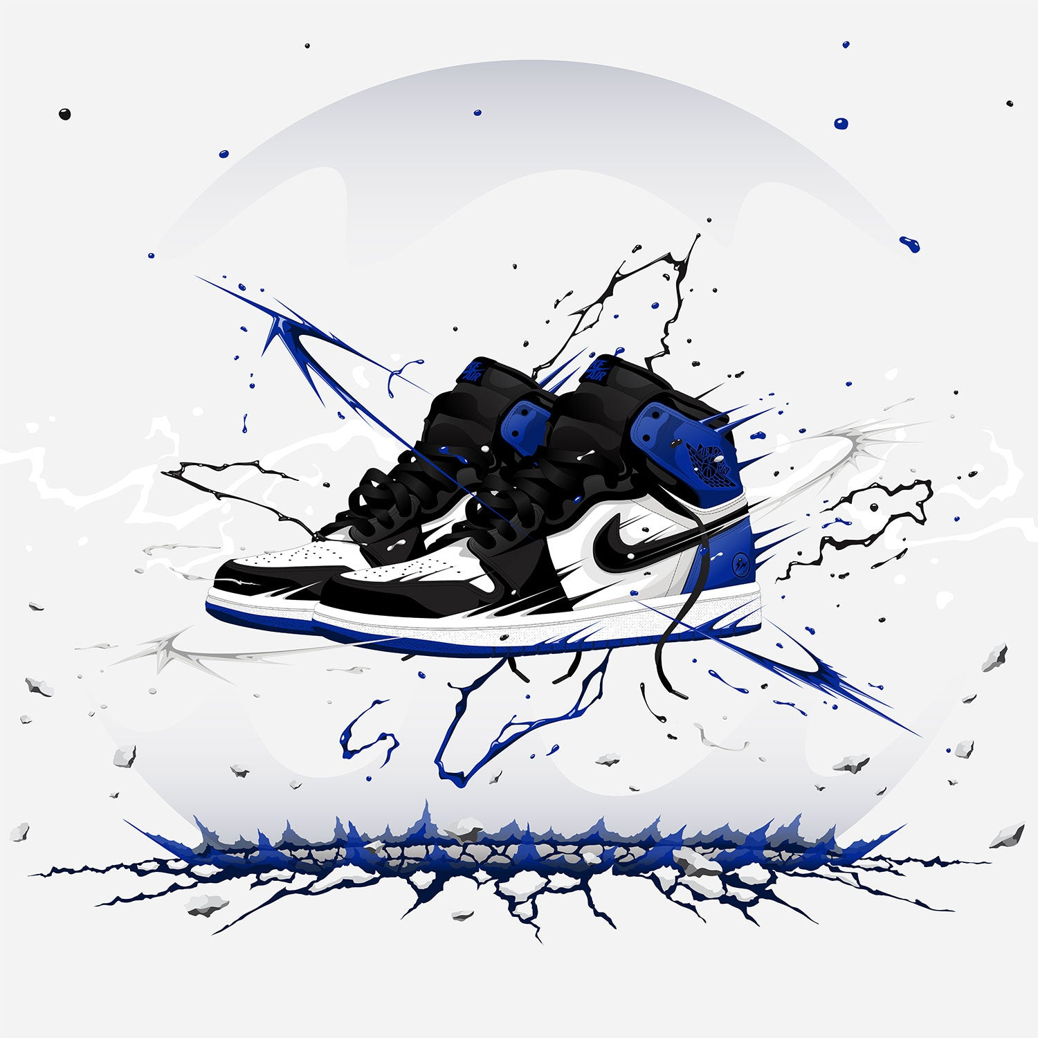 Air Jordan 1 Fragment Design Fine Sneaker Art