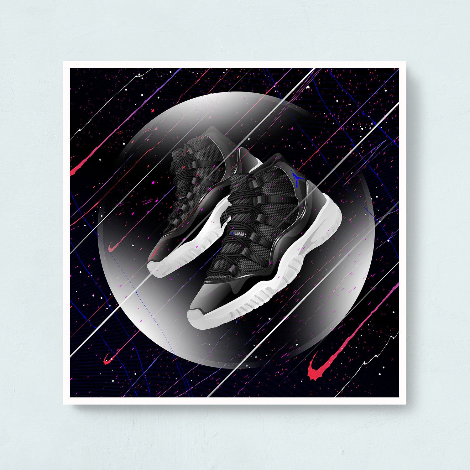 Air Jordan 11 Space Jame Sneaker Art Print