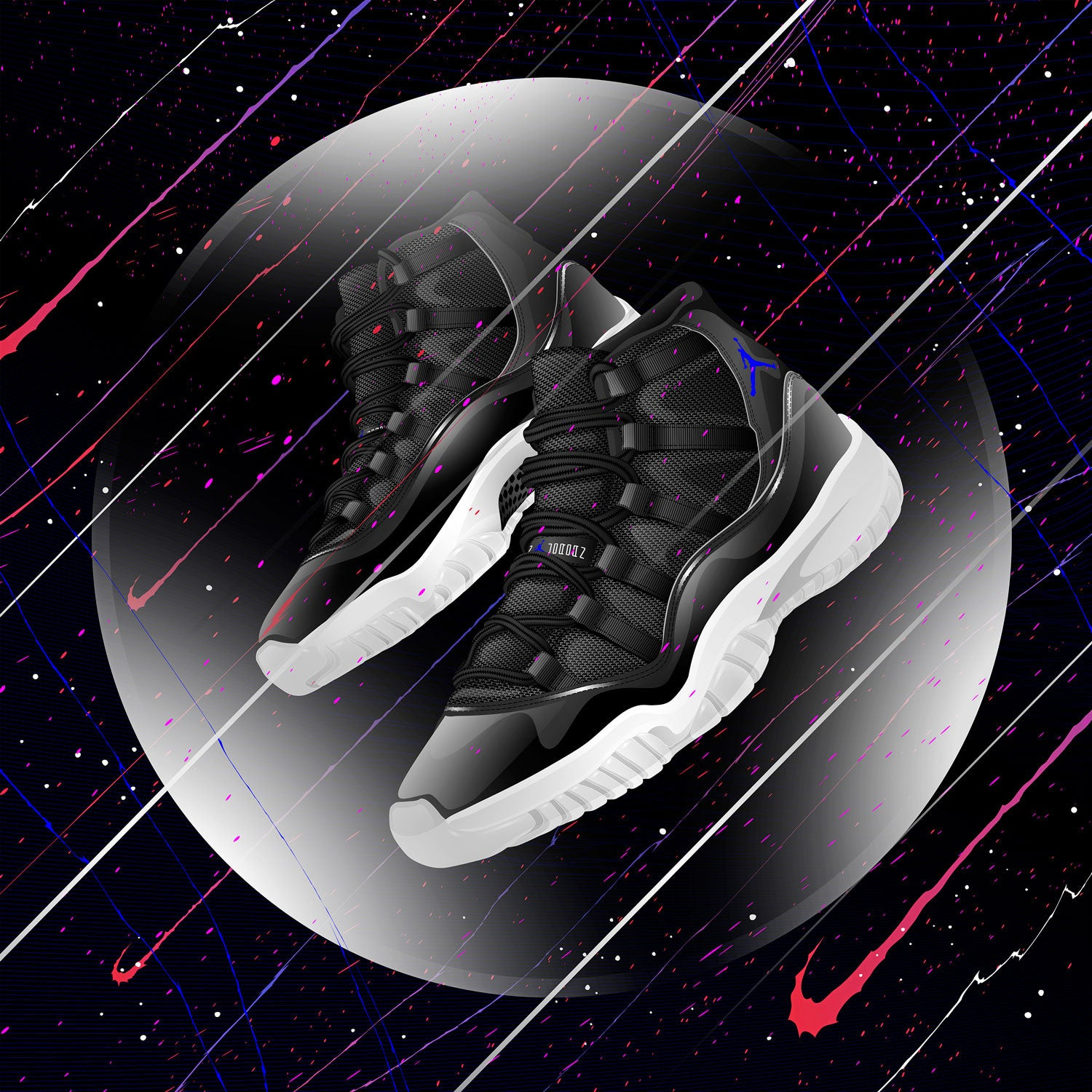 Air Jordan 11 Space Jame Sneaker Art