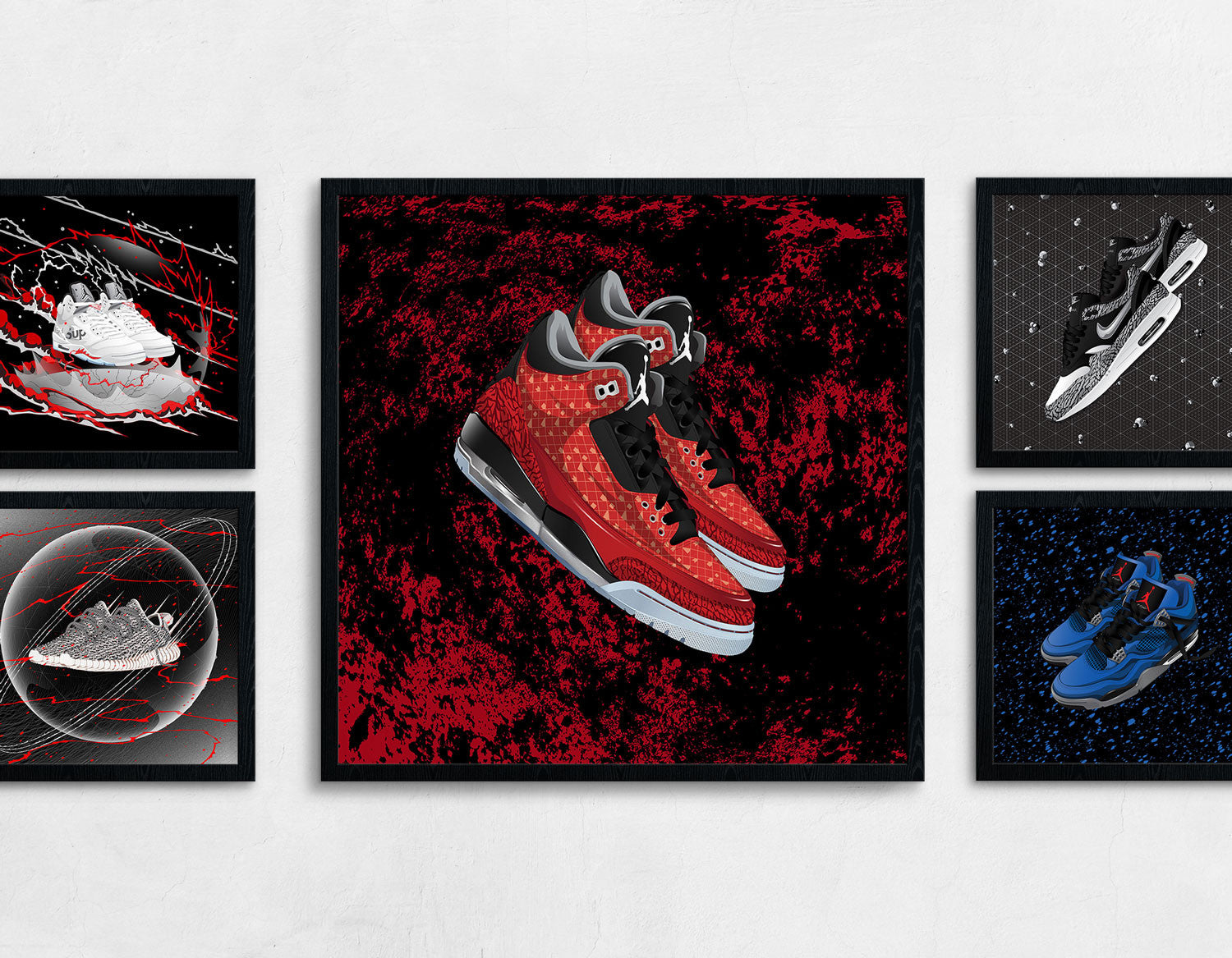 Framed Air Jordan 3 Doernbecher Contemporary Art