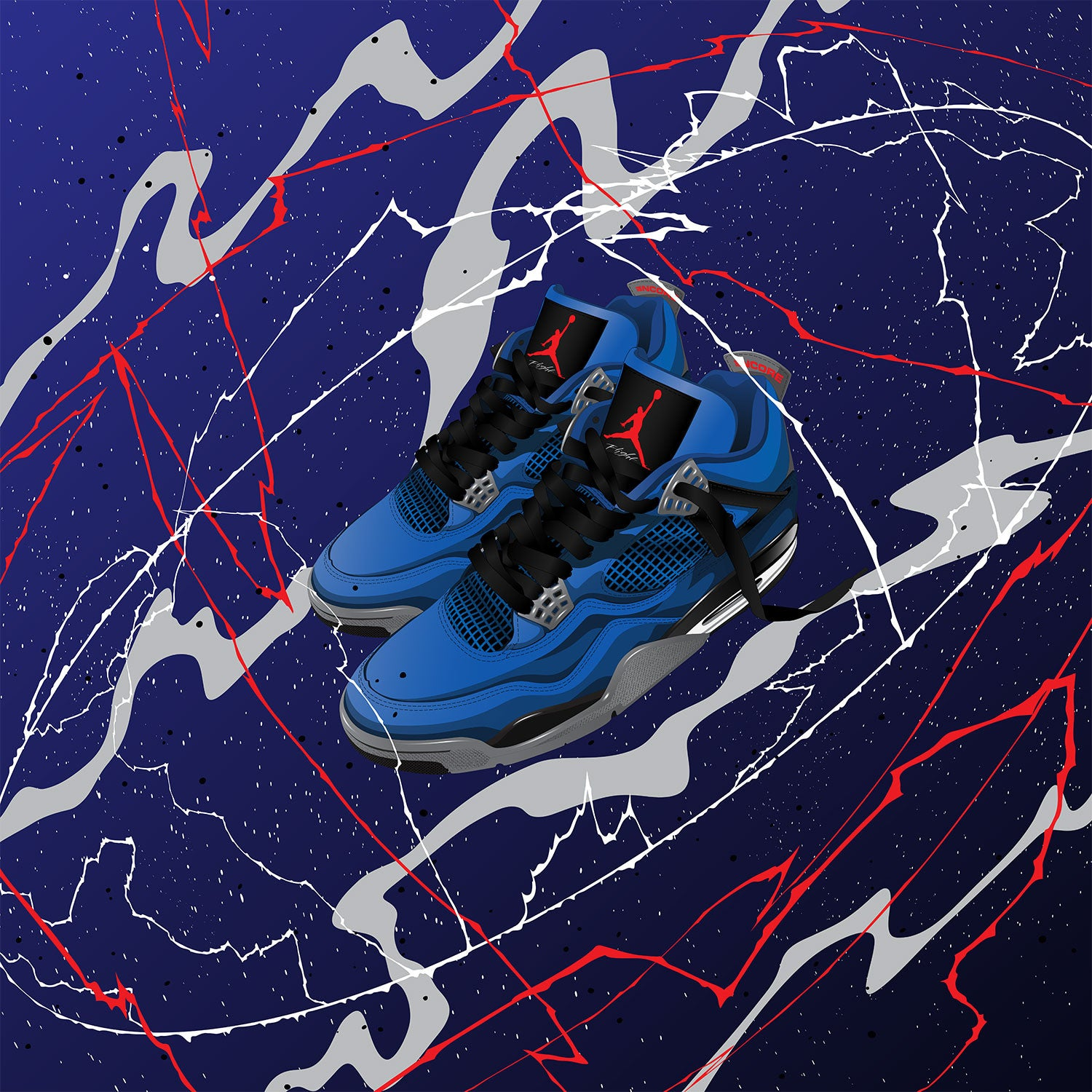 Fine Sneaker Art of the Air Jordan 4 Eminem Encore
