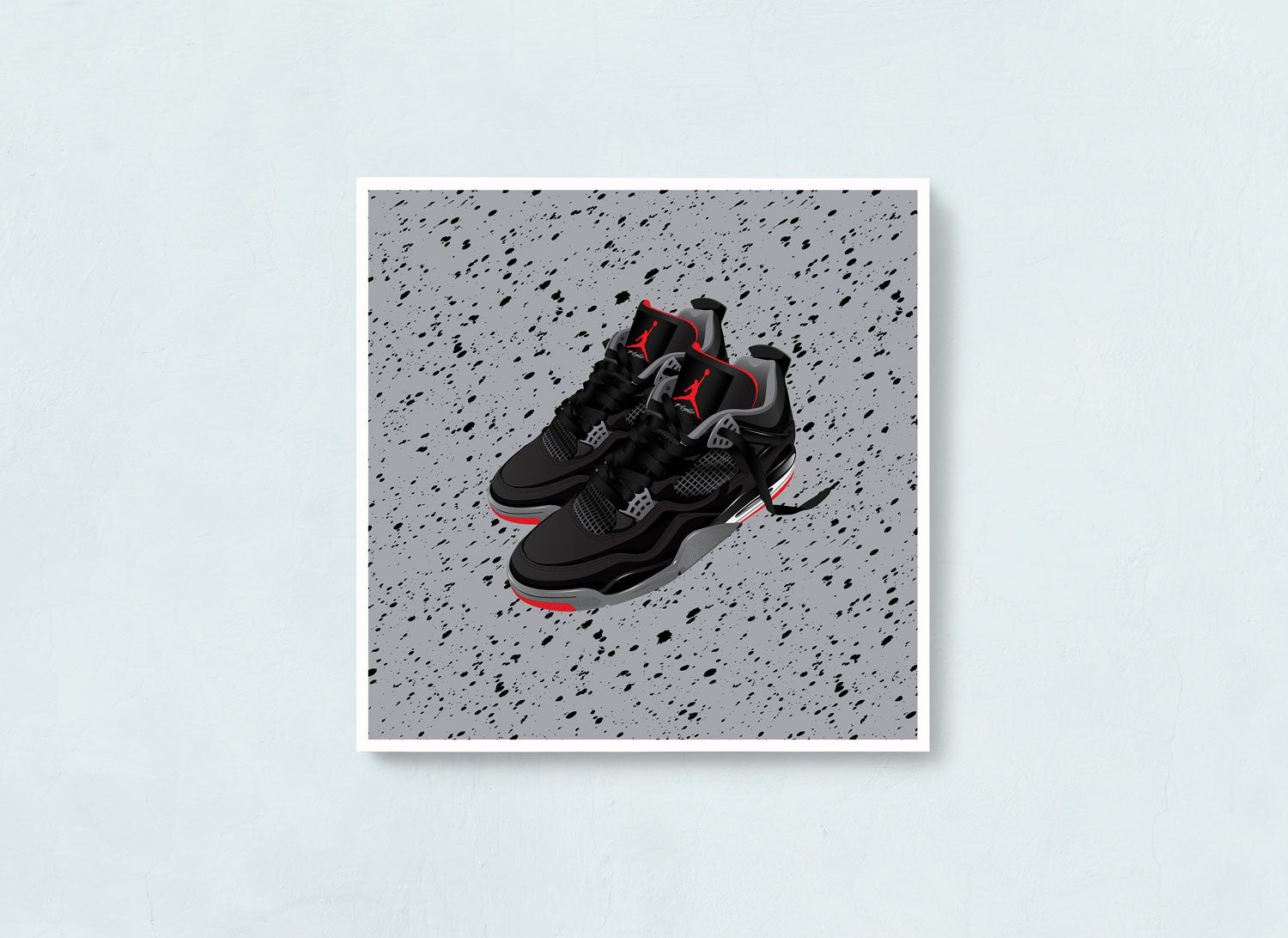 Air Jordan 4 Bred Contemporary Sneaker art print