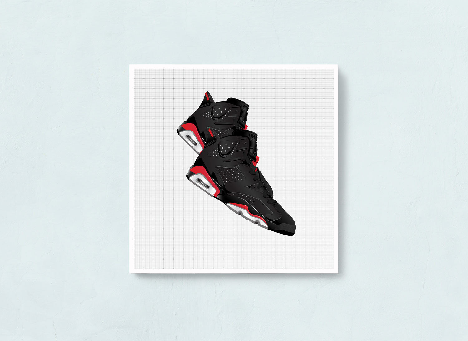 Contemporary Sneaker Art Print of the Air Jordan 6 Bred