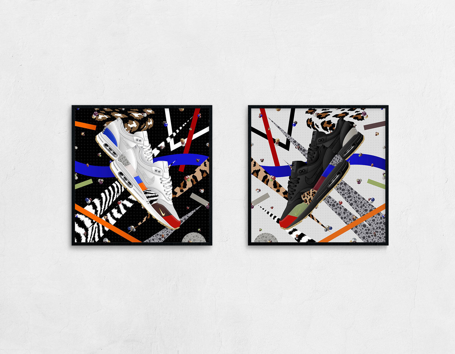 Double framed Nike Air Max 1 Master Sneaker art