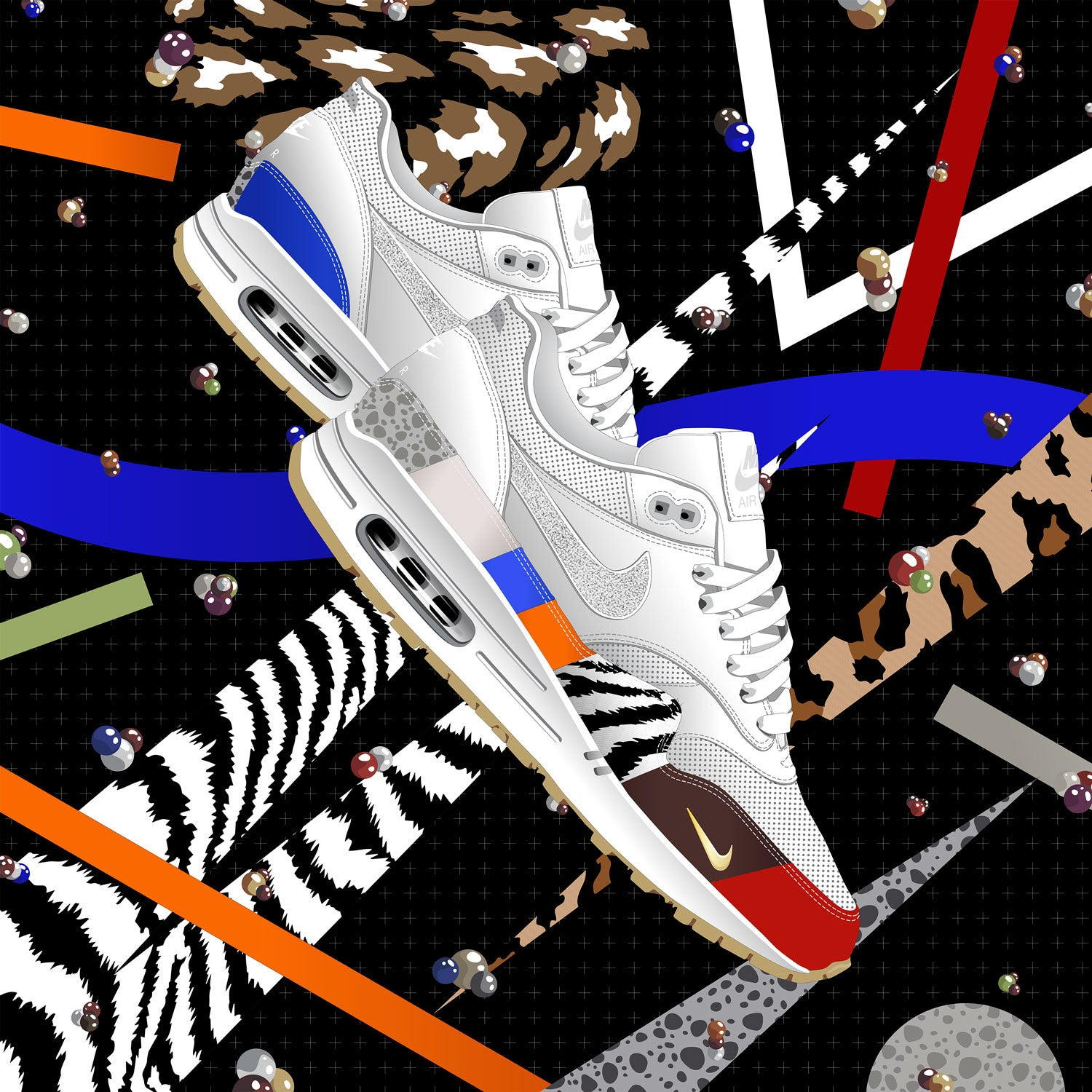 Nike Air Max 1 Master Friends and Family Sneaker Art
