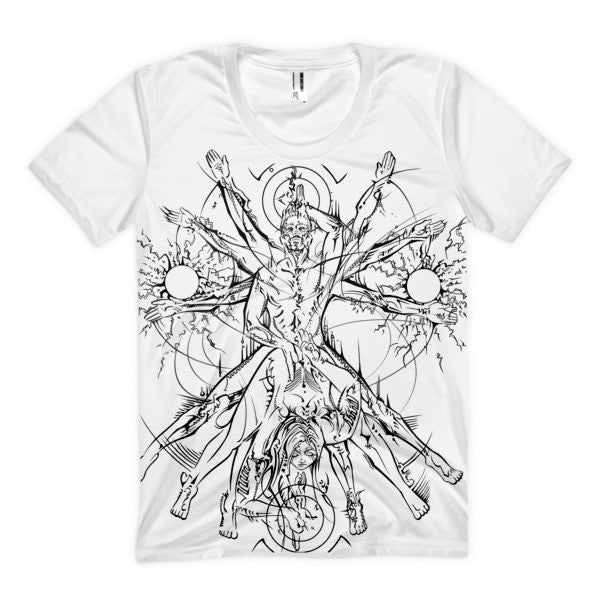 Vitruvian Coupling Women's sublimation t-shirt