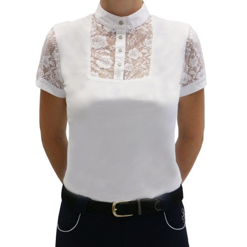Huntington Colleen Kwik Dry Lace Show Shirt - White