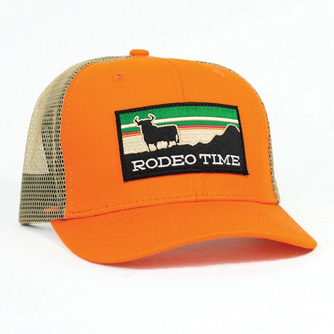 Dale Brisby Rodeo Time Orange & Khaki Cap
