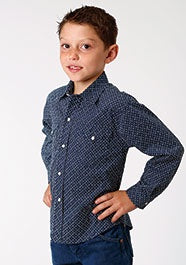 Boys Roper West Made Print Shirt
