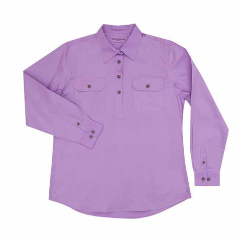 Just Country Jahna 1/2 Button Work Shirt - Orchid