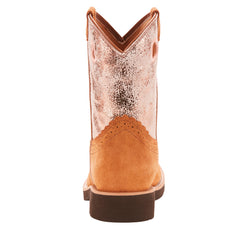 Ariat Kids Fatbaby Cowgirl Golden Pink Boots
