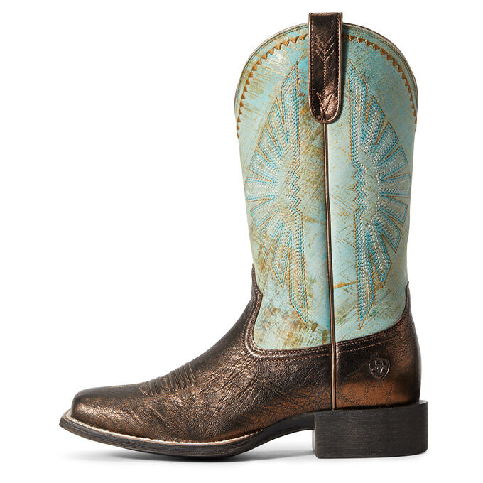 Ariat Round Up Rio Dark Bronze & Jade Boots