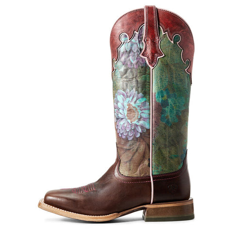 Ariat Womens Fonda Sequoia/Floral Ceramic Boots