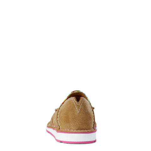 Ariat Cruiser Dark Tan Suede/Pink Oil Cloth