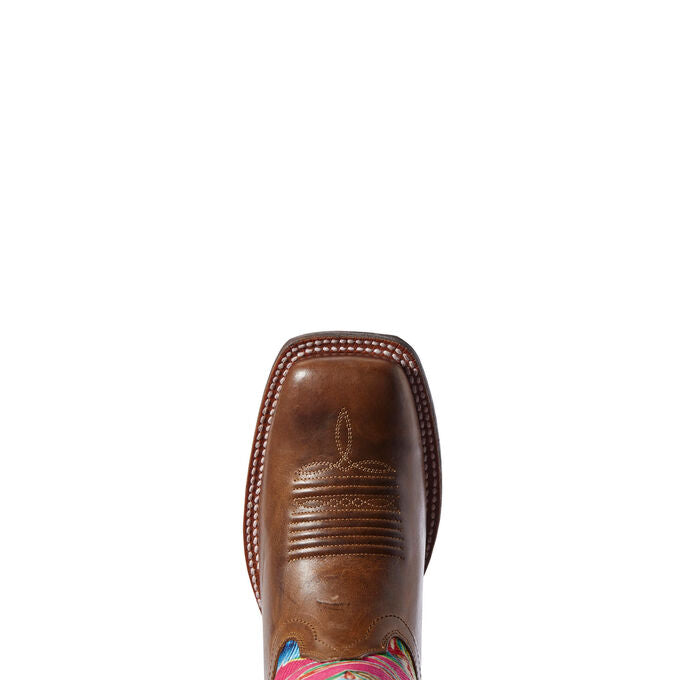 Ariat Circuit Champion Vintage Amber & Pink Oil Cloth