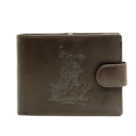 Men's Dark Leather Wallet - Bullrider
