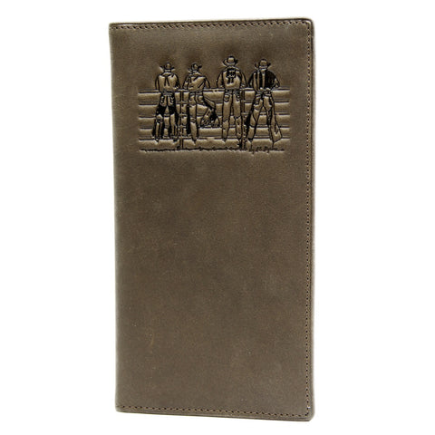 Men's Long Leather Wallet  - Fence