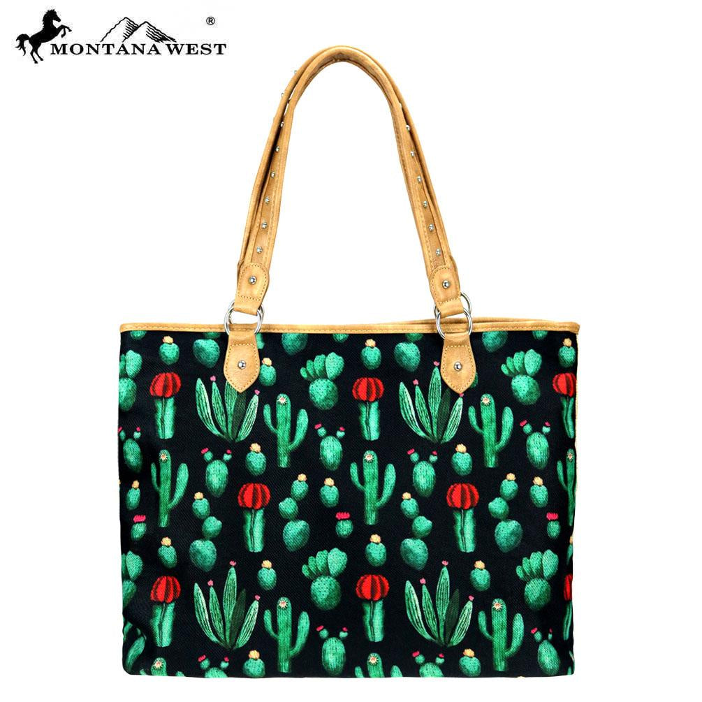 Montana West Cactus Print - Canvas Tote Bag