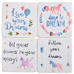 "Drink Coaster Set - Resin - ""Dreams"""