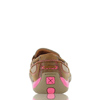 Ladies Twisted X Bomber/Neon Pink Driving Moc