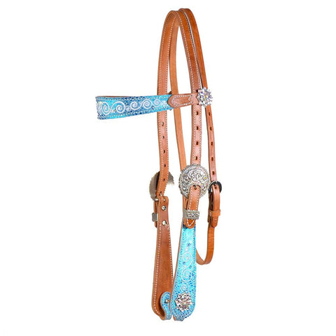 Weaver  Snowflake Browband Headstall