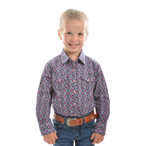 Pure Western Girls Abby Print Long Sleeve Shirt
