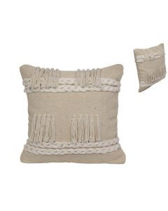 Hand Woven Ivory Cotton Cushion