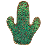 Metal Tray for Trinkets - Green Cactus