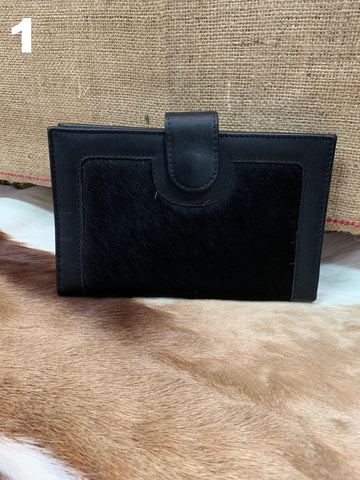 The Barossa Clutch Wallet (Black Leather)