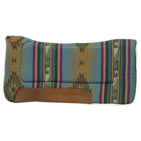 Weaver All Purpose Contoured Saddle Pad - Southwest Blue