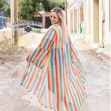 Crazy Train Saratoga Springs Serape Duster Long Sleeve Bell