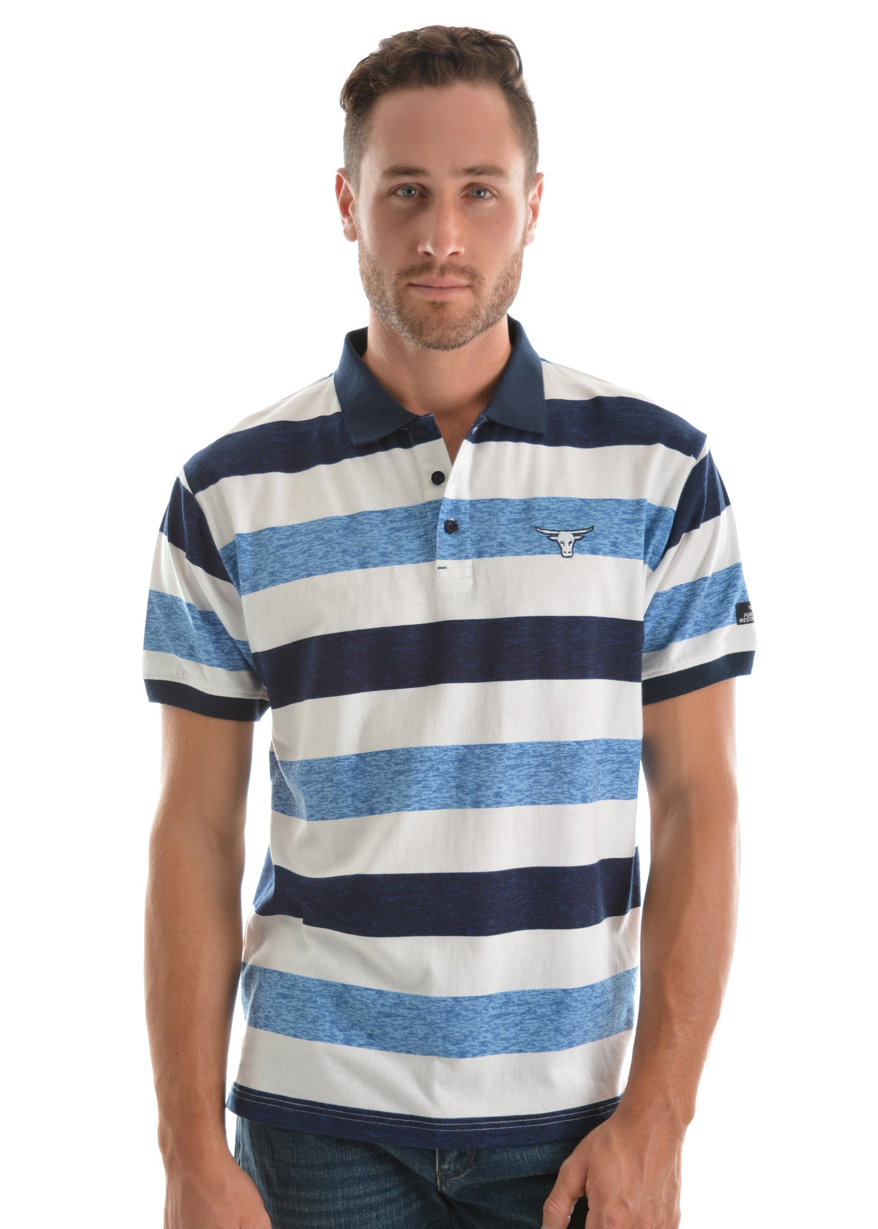 Pure Western Mens Andy S/S Polo