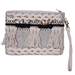 Zulu - embellished clutch bag with zip and detachable strap