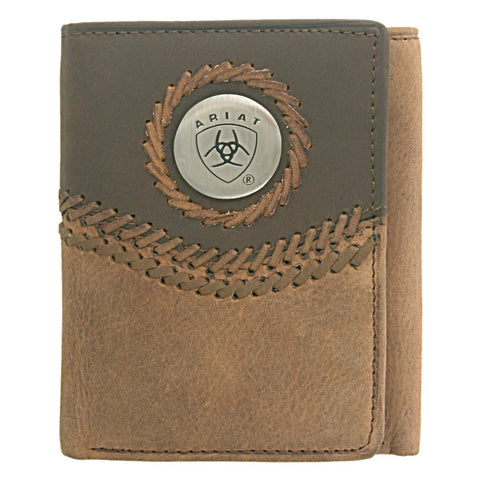 Ariat Tri-Fold Wallet Distressed Brown - WLT3101A