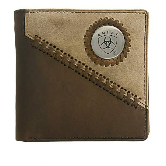 Ariat Bi-Fold Wallet - chestnut and light tan