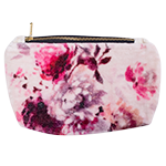 Fuschia - small printed velvet clutch