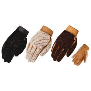 Heritage Crochet Riding Glove - Tan