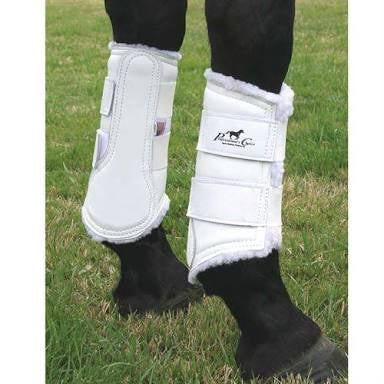 Professionals Choice Leather Protection Boots Set of 2 White