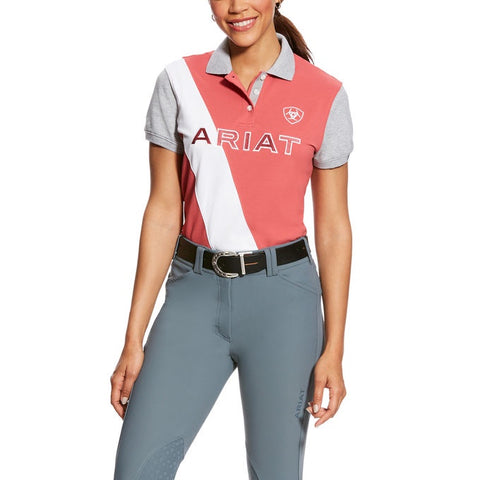 Ariat Taryn Frayed Red Polo