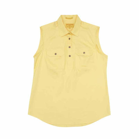 Just Country Kerry Sleeveless Workshirt - Butter