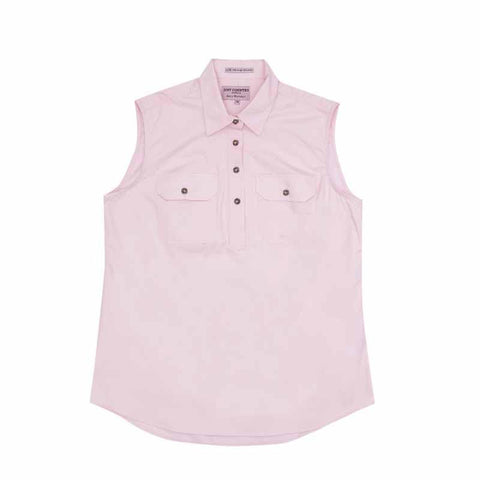 Just Country Kerry Sleeveless Workshirt - Pink