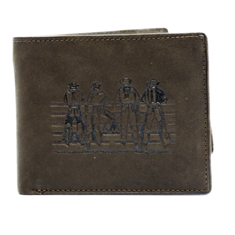 Men's Leather Dress Wallet - Fence