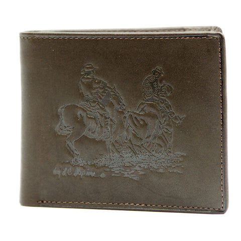 Men's Leather Dress Wallet - Team Roper