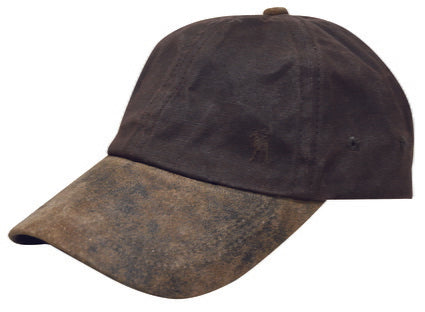 Thomas Cook Oilskin Cap Dark Brown