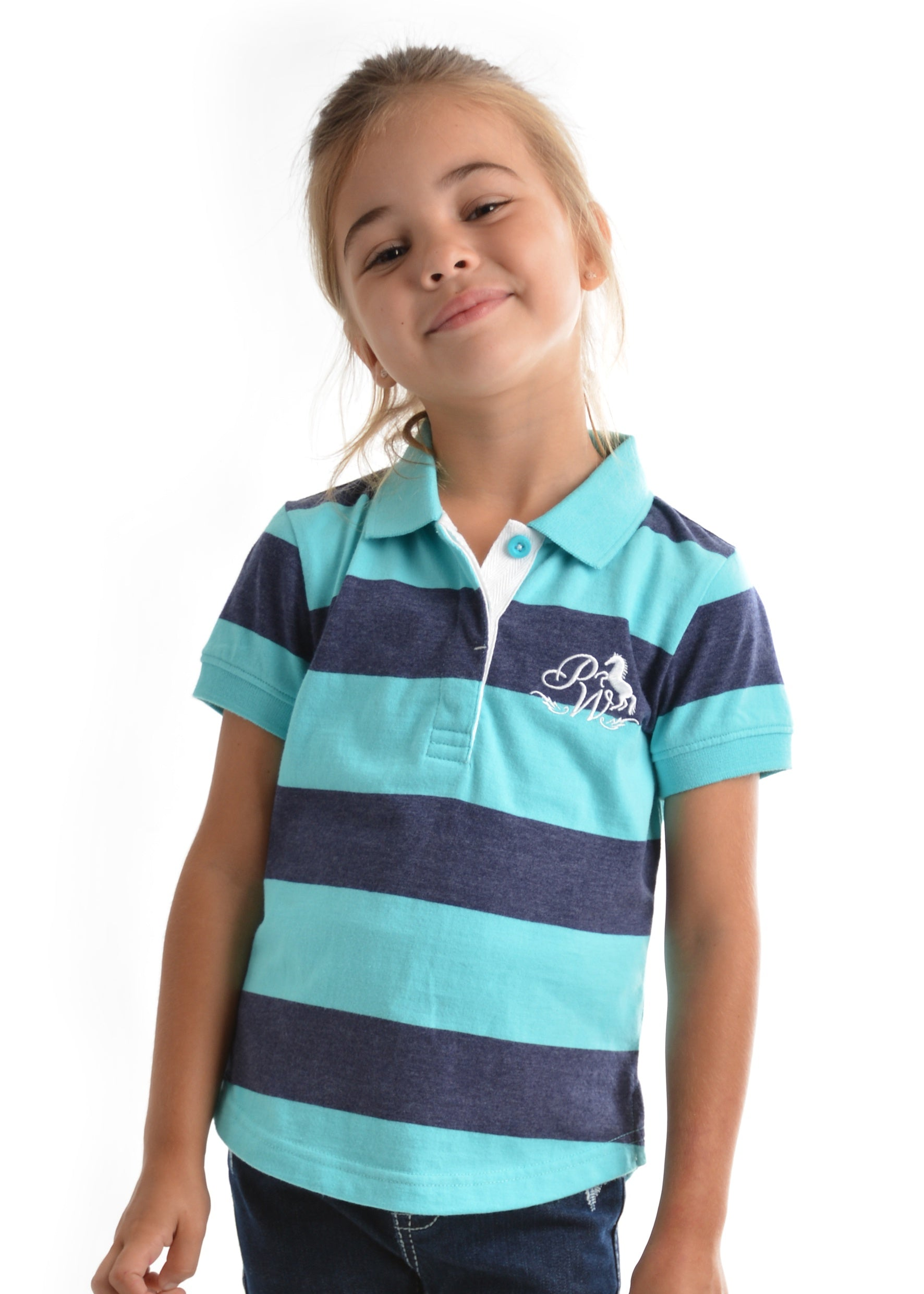 Pure Western Girls Dempsey S/S Polo