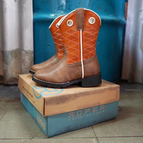 Kids Roper Boone - Brown Boots