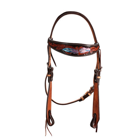 Fort Worth Pink Apache Headstall