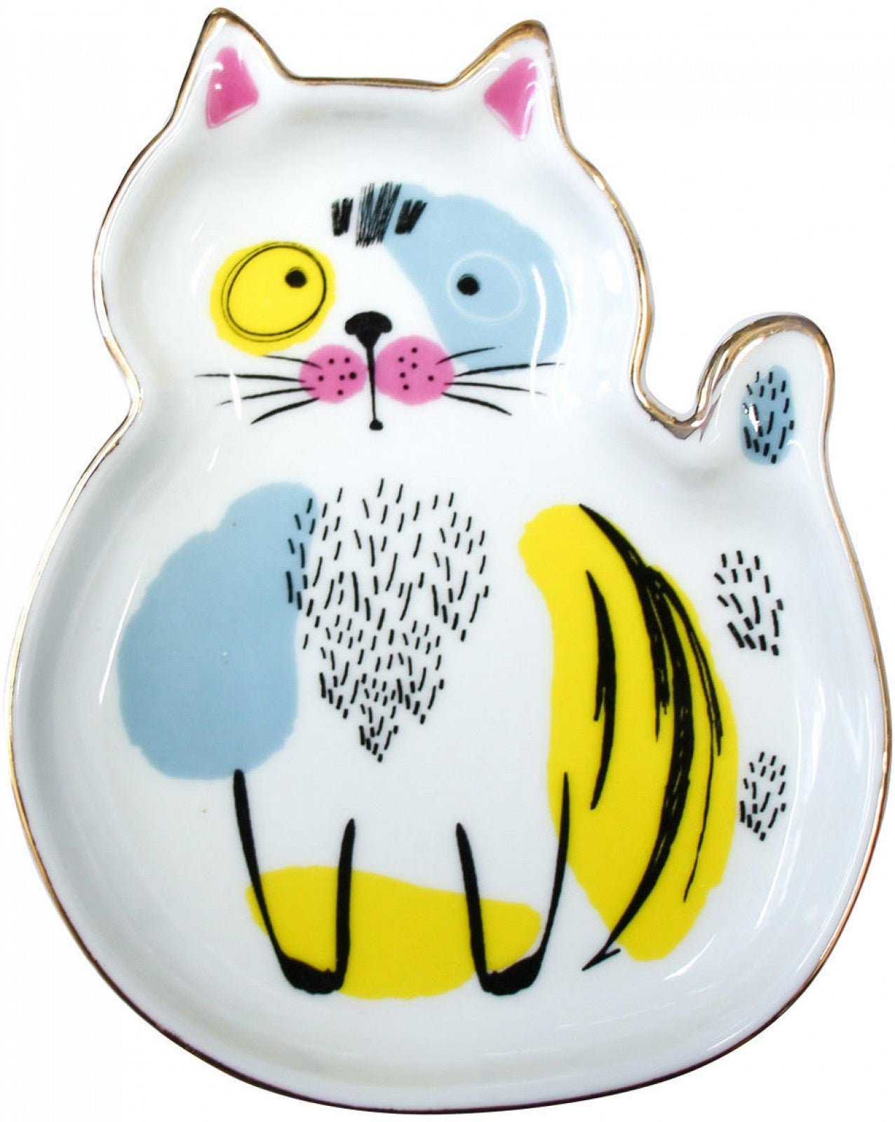 Ceramic Trinket Plate - Curious Cat